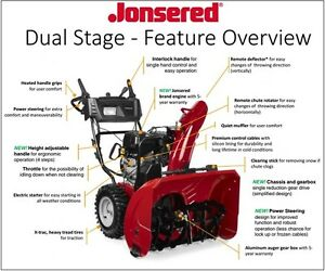 Jonsered 208 cc 61 cm (24 in.) Dual-Stage Snowblower SALE Kitchener / Waterloo Kitchener Area image 1