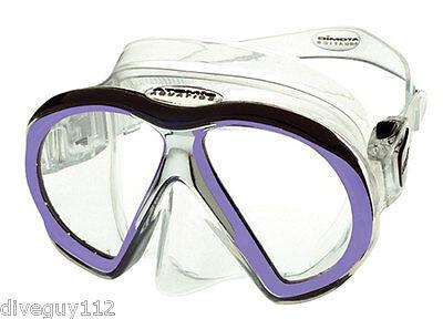 Mask Clear Scuba Dive - Atomic SubFrame Dive Mask for FreeDiving Scuba Snorkeling Clear/Purple