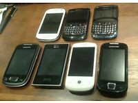 6 Android smartphones + 2 blackberry (LG, Sony Ericsson, Samsung, HTC)