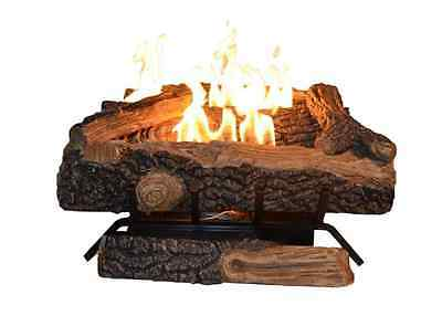 Oakwood Fireplace Natural Gas Vent Free 24 in. Logs Manual Control Heating Flame