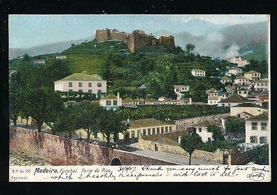 Portugal MADEIRA Funchal Forte do Pico used 1907 u/b PPC