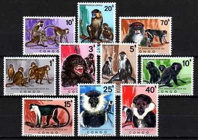 Belgisch Congo Belge Rep. Congo n° 785/794 MNH Animals Monkeys Singes c90.00Eu