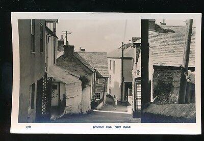 Cornwall PORT ISAAC Church Hill c1950/60s? RP PPC