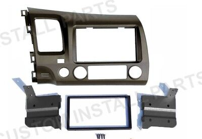 Taupe Radio Stereo Install Double Din Dash Kit Panel fits 2006-2011 Honda Civic Install Dash Kits