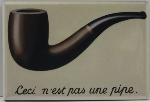 """This is Not a Pipe by Rene Magritte 2"""" X 3"""" Fridge / Locker Magnet. Unique Gift"""