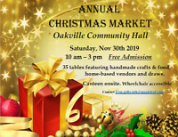 Oakville Annual Christmas Market - Nov 30, 2019