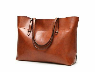 Schultertasche Handtasche (2019 Damen Leder Tasche Shopper Handtasche Schultertasche Umhängetasche Groß DE)