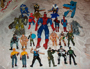 Boys Action Figure Lot. Spiderman Transformer etc
