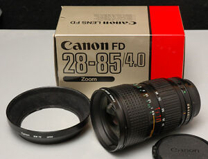 Canon FD 28-85mm Zoom Lens With Macro * Mint *