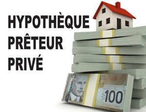 Prêteur privé - Le meilleur taux hypothécaire de 1er ou 2e rang