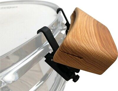 RhymBlock - Hickory, A percussion woodblock that attaches to the rim of a drum.