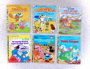 Vintage 1970's Little Golden Book Lot of 6 Classics Buck Rogers