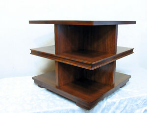 Perfect Mid Century Modern Tiered Corner Display Table SEEVIDEO