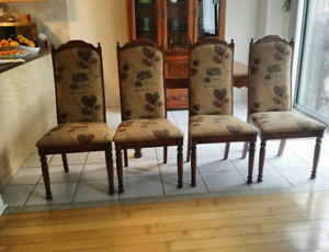 Solid Wood - Dining set - Table & 6 chairs