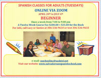 Spanish Classes for Adults - Beginners on Tuesdays.