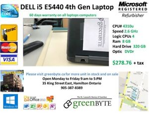 i5  4th Gen Dell Lap top e5440  Win 10 Office 10