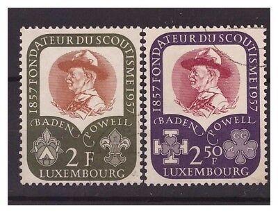 Occasion, LUSSEMBURGO  -  1957  BADEN POWELL  SERIE USATA d'occasion  Expédié en Belgium