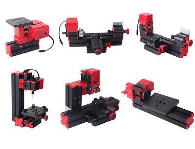 Mini Multipurpose Woodworking 6 In 1 Kit Jig-saw Lathe Drilling Milling Sanding