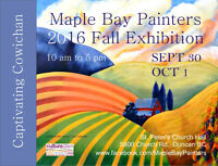 """""""Captivating Cowichan"""" Maple Bay Painters 2016 Fall Show"""