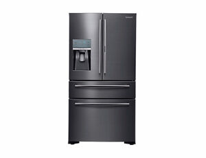 "Samsung Black Stainless 36"" Counter Depth 4-Door Showcase Fridge"