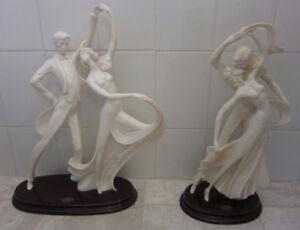 Vintage Art Deco Santini Sculptures