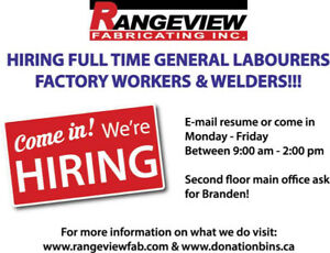 HIRING GENERAL LABOURERS