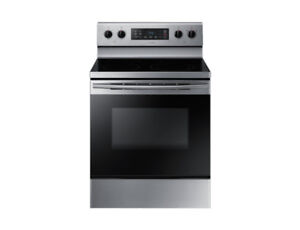 SAMSUNG Electric Range with Stainless Steel Edge Frame