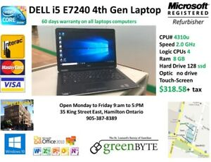 Dell e7240n Laptop 4th Gen i5 128 SSD  8 GB RAM