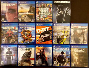 14 PS4 GAMES FOR SALE
