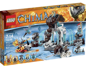 Brand new LEGO Legends of Chima 70226 mammoths frozen stronghold