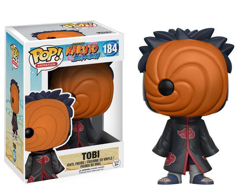FUNKO POP! ANIMATION: NARUTO - TOBI #184 VINYL FIGURE ON HAN