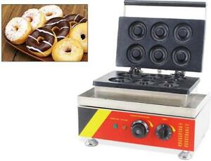 6pc Electric Donut Maker Waffle baking Machine Snack Maker (110V) 028053