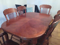 table a diner , 6 chaise   negociable.