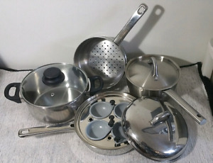 Stainless Steel Pot & Pan Cookware Set ~ Batterie de Cuisine
