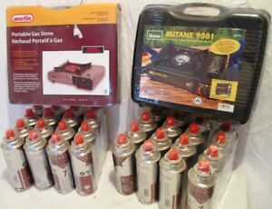 Butane camping stoves & fuel cans combo deal – BNIB