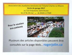 Vente de garage des bénévoles de l'hôpital Charles-Le Moyne