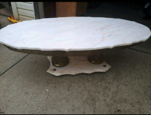 3x antique marble tables