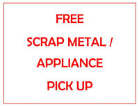 FREE SCRAP METAL / APPLIANCE PICK UP - PETERBOROUGH AREA