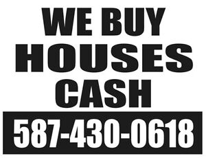 % Need money? Need to move? We buy houses FAST!