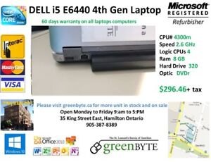 i5  4th Gen  Dell e6440 2.6 Ghz 8 GB RAM Win 10 Office 10