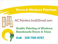 Doors Windows Baseboards and Trim Install & Paint