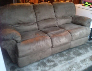 Coach- double recliner- micro fibre $300 obo Delivery availAble