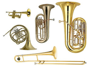 Music lessons for Trombone, Trumpet, French horn, Baritone, Tuba