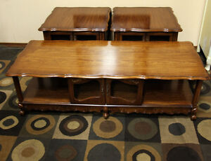 Brilliant Oak French Side Table & Coffee Table Set SEE VIDEO