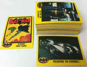BATMAN MOVIE FILM 1989 CARD COLLECTION 79 UNIQUE CARDS RARE