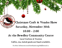Bewdley Skating Club's Christmas Craft and Vendor Show