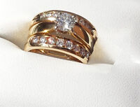 3 RINGS! $7500 VALUE!! Wedding ENGAGEMENT Set SEE VIDEO