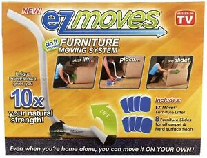 New EZ Moves Furniture Moving System with Lifter Tool & 8 Slides