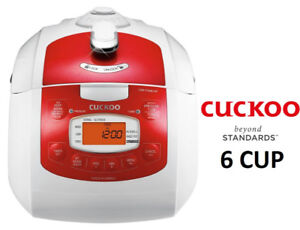 NEW CUCKOO ELECTRIC PRESSURE RICE COOKER CRP-FA0610FR (RED)