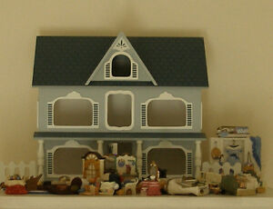 vintage AVON doll house with all the furnishings